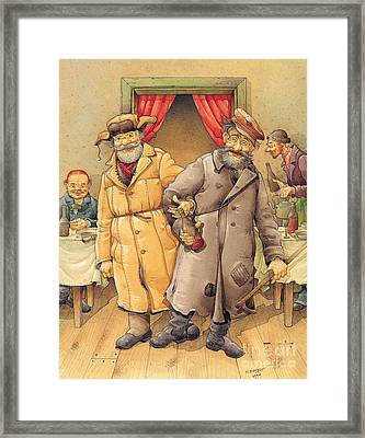 The Honest Thief 01 Illustration For Book By Dostoevsky Framed Print by Kestutis Kasparavicius