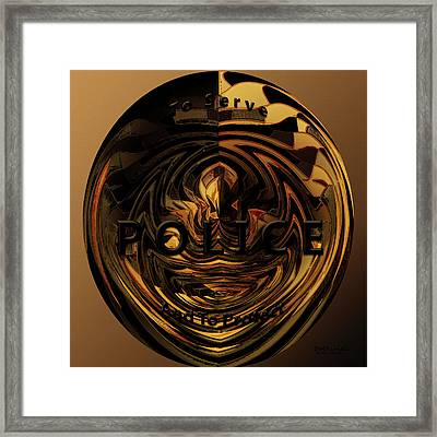 The Honor Of The Badge Framed Print by Diane Parnell