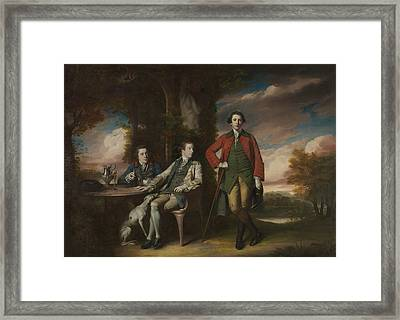 The Honorable Henry Fane With Inigo Jones And Charles Blair Framed Print by Joshua Reynolds