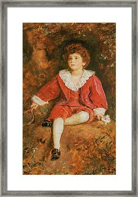 The Honorable John Neville Manners Framed Print by John Everett Millais