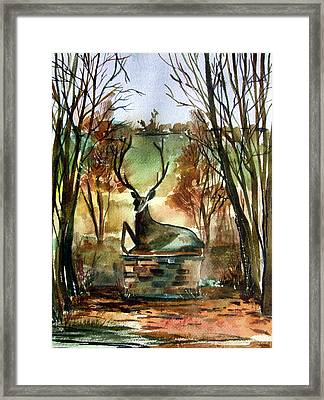 The Honorable Stag Framed Print by Mindy Newman