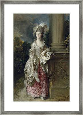 The Honourable Mrs Graham  Framed Print by Thomas Gainsborough
