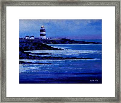 The Hook Lighthouse The Hook Peninsula County Wexford Ireland Framed Print