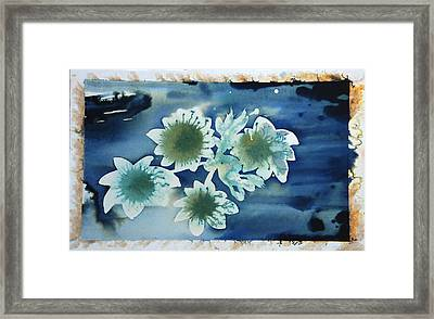 The Hopes And Dreams Of A Blossom On A Lake Framed Print