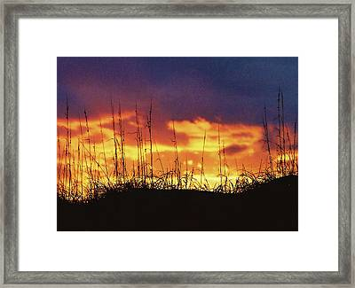 The Horizon Is Burning Framed Print