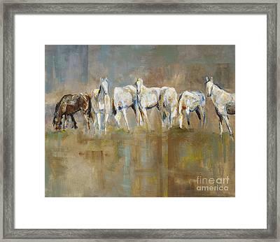 The Horizon Line Framed Print by Frances Marino