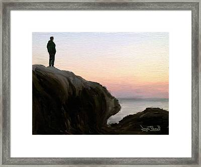 Framed Print featuring the painting The Horizon by Wayne Pascall