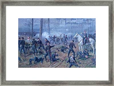 Framed Print featuring the painting The Hornets' Nest by Thomas Corwin Lindsay