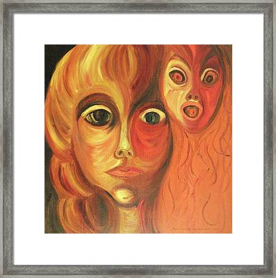 The Horror Of Living Framed Print by Suzanne  Marie Leclair