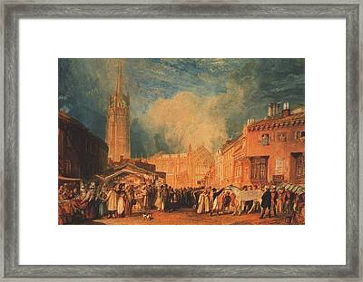The Horse Fair Framed Print