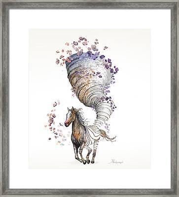 The Horse Framed Print by Kristina Vardazaryan