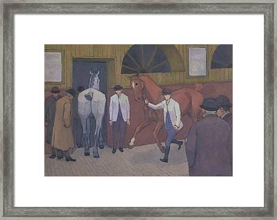 The Horse Mart Framed Print by Robert Bevan
