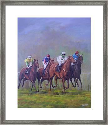 The Horse Race Framed Print by Eamon Doyle