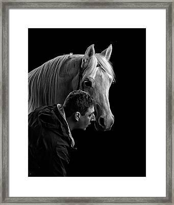 The Horse Whisperer Extraordinaire Framed Print