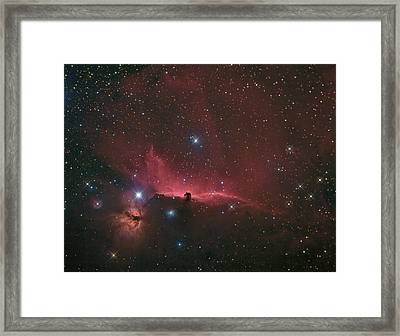 Framed Print featuring the photograph The Horsehead Nebula by Charles Warren