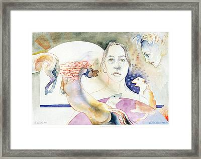 The Horses Ass Painting Framed Print by Eileen Hale
