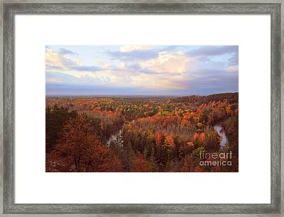 The Horseshoe Bend Of The High Rollaways In Michigan Framed Print