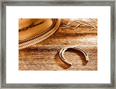 The Horseshoe - Sepia Framed Print by Olivier Le Queinec