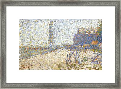 The Hospice And A Lighthouse  Framed Print