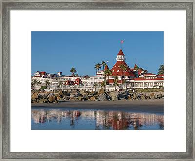 The Hotel Del Coronado Framed Print by Robert Bellomy