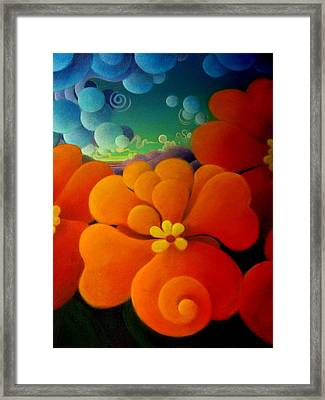 Framed Print featuring the painting The Hour That Follows by Richard Dennis