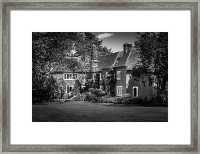Framed Print featuring the photograph The House At Beech Court Gardens by Ryan Photography