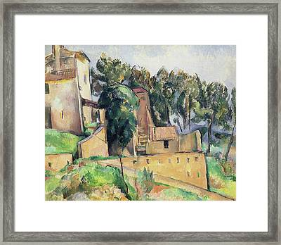 The House At Bellevue Framed Print by Paul Cezanne