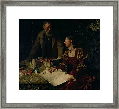 The House Builders Framed Print by Frank Dicksee