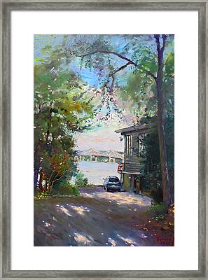 The House By The River Framed Print by Ylli Haruni