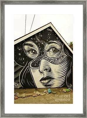 The House Face Framed Print