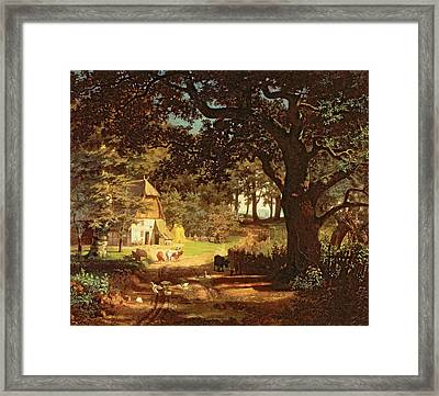 The House In The Woods Framed Print by Albert Bierstadt