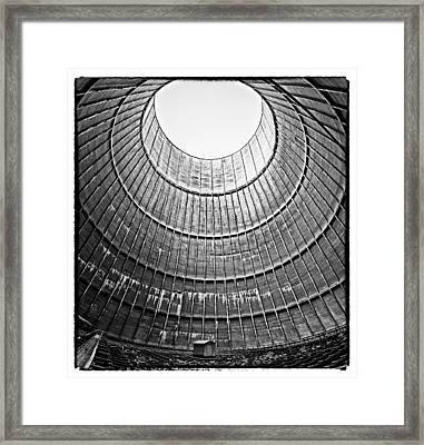 The House Inside The Cooling Tower - Abandoned Factory Framed Print