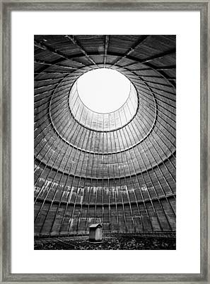 The House Inside The Cooling Tower - Industrial Decay Framed Print