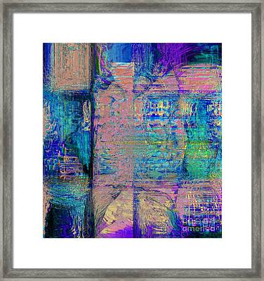 The House Is There Framed Print by Fania Simon