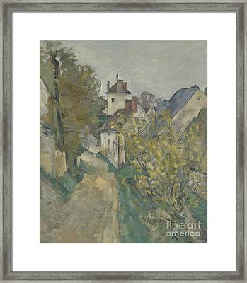 The House Of Dr Gachet In Auvers Sur Oise Framed Print by Paul Cezanne