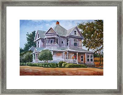 Framed Print featuring the painting The House Of Many Angles by Ron Stephens