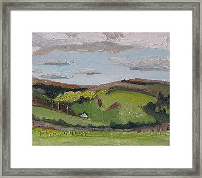 The House On The Hill Framed Print by Francois Fournier