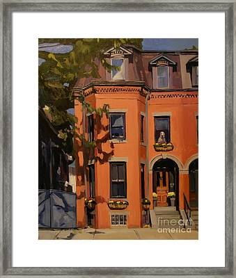 The House Sitter Framed Print by Deb Putnam