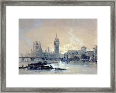 The Houses Of Parliament Framed Print by David Roberts