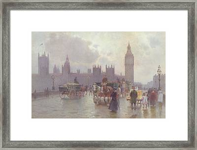 The Houses Of Parliament From Westminster Bridge Framed Print by Alberto Pisa