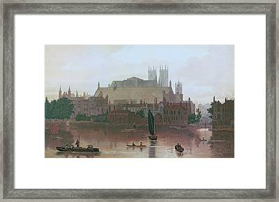 The Houses Of Parliament Framed Print by George Fennel Robson