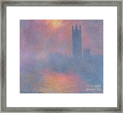 The Houses Of Parliament London Framed Print by Claude Monet
