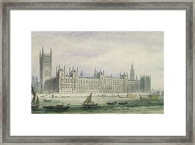The Houses Of Parliament Framed Print by Thomas Hosmer Shepherd