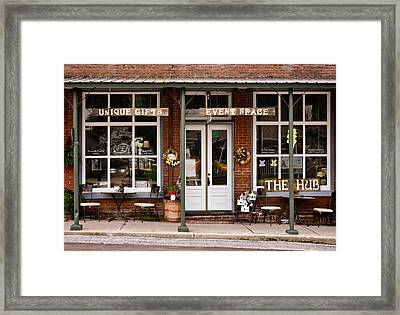 The Hub - Storefront - Vintage Framed Print