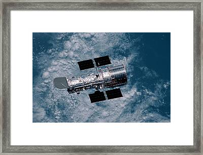 The Hubble Space Telescope Framed Print by Nasa