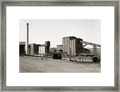 The Huber Colliery Ashley Pennsylvania 1953 Framed Print