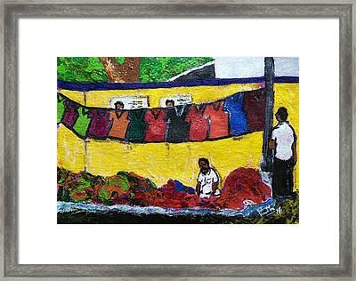The Huckster Framed Print by Vineeth Menon
