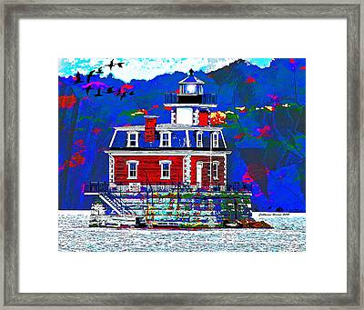 The Hudson Athens Lighthouse Framed Print
