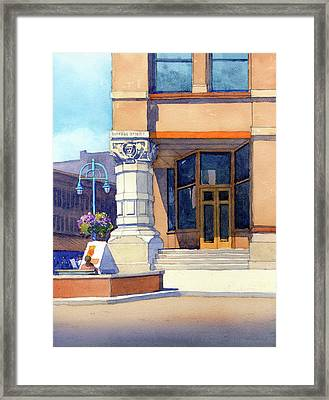 The Hudson Framed Print