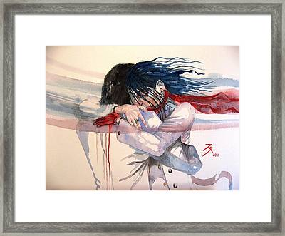 The Hug Framed Print by Ray Agius